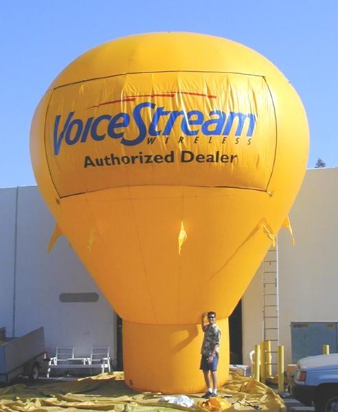 Parking Lot Advertising Balloons